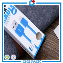 Anti-shock plastic PVC USB data cable package packaging packing box for USB cable wholesale