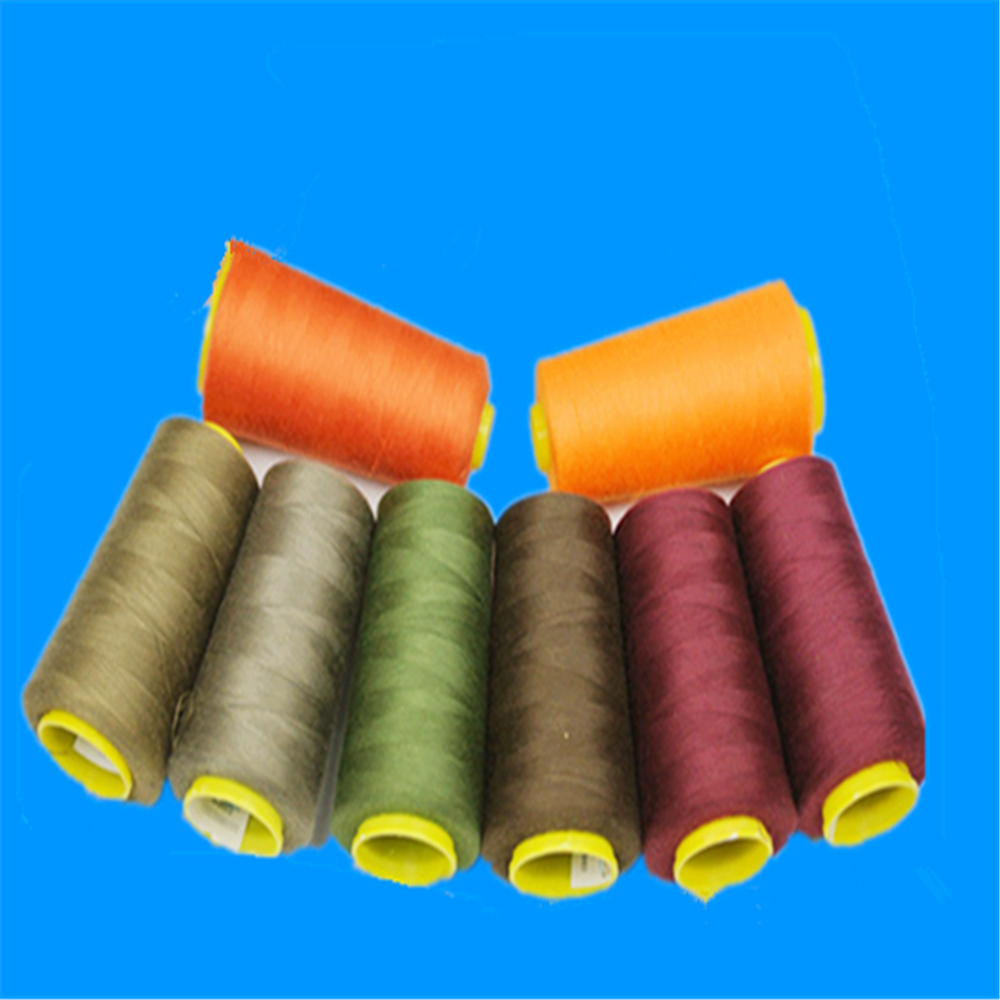 China supplers100% ring spun polyester thread witn wholesale price