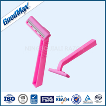 Factory direct sales lady twin blade shaving razor,woman body high-grade shaver