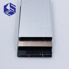 External corner 3000*78.5*1.0mm aluminum plinth kick board finished brush