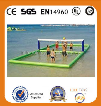 New arrival cheap price inflatable volleyball court,inflatable water sports games