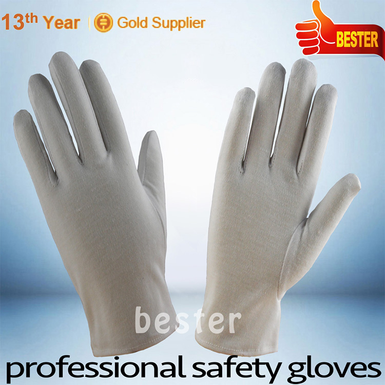 10% COTTON 90% POLYESTER cheap price Factory price white cotton gloves pvc dot