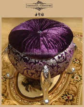Different color fancy ottoman and stool , round ottoman furniture
