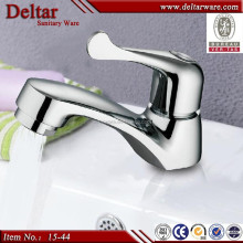 double lever faucet, brass water tap, lead free waterway brass basin faucet