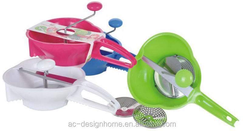 FUCHSIA, TURQUOISE, LIME GREEN, ORANGE PP PLASTIC KITCHEN GRINDER
