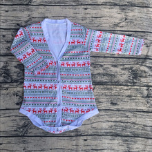 fall winter baby Christmas printed plain deer infant stripe rompers cheap baby infant velour hooded romper