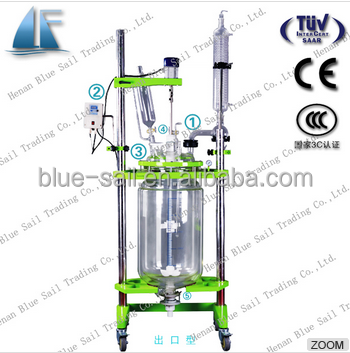 Lab Fermentor Bioreactor Jacketed Glass Bioreactor Vessel for Sale