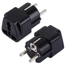 Hot Selling Portable Universal Plug to French / German EU Plug Adapter Power Socket Travel Converter