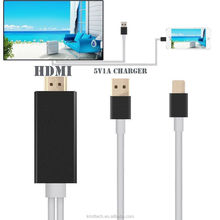 For iPhone 7/6/5/iPad 2 meters 1080P HD Charging Port to HDTV TV USB Cable Adapter