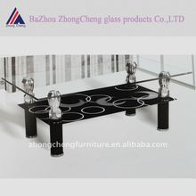 2012 classic style tempered glass cafe table