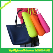 2015 New rope silicone rubber bag silicone Beach Bag with zipper