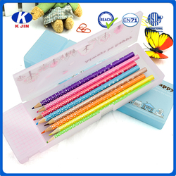 2 layers beautiful plastics pencil case for students