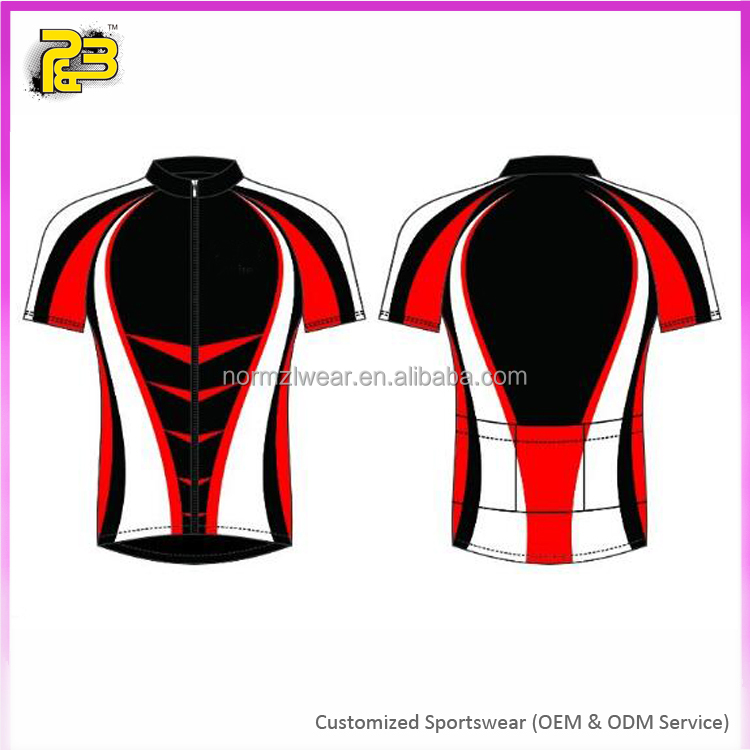 factory price custom cycling wear men's bicycle uniforms with sublimation print