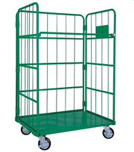 Folding Transport Roll Container/Cage/Warehouse Trolley/Storage Box/ Wire Metal Mesh Logistics Cart