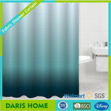 Hot Dyeing Gradient Solid Color Changing Promotional Polyester Shower Curtain