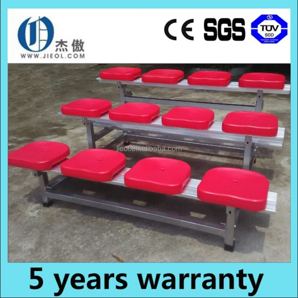 Indoor gym plastic chairs portable bleachers