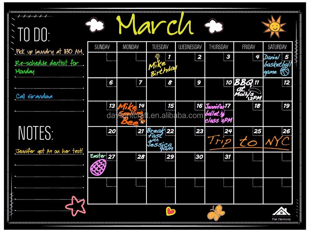 weekly plan Magnetic Dry Erase white board