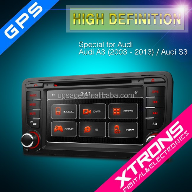 xtrons pf71a3agt 7 in dash car stereo touchscreen with gps navigation canbus for audi a3 s3. Black Bedroom Furniture Sets. Home Design Ideas