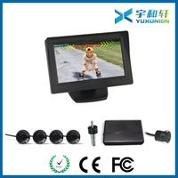 Car parking sensor with backup rear view camera