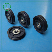 Engineering cnc machined nylon pulley 3 v groove durable plastic pulley bearing wheel