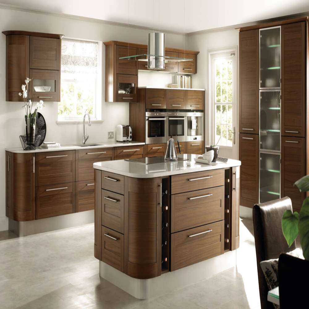 Modern Furniture Design Solid Wood Modular Kitchen