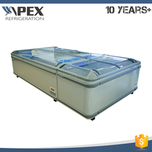 Commercial island freezer seafood display freezer for supermarket