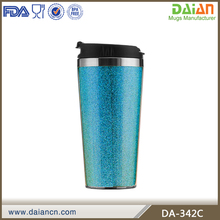 Classical thermal mug with paper insert and flip lid