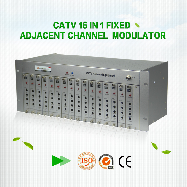 16 Channels Fixed Modulator / 47-860 MHz Adjacent Agile Demodulator