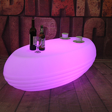 Led bar table Modern commercial light up coffee Plastic <strong>furniture</strong>