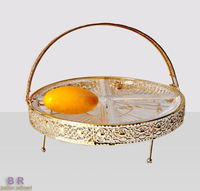glass art luxury plate