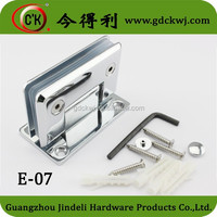 Chorme plated permanent fasteners glass door fasteners