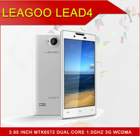 Original Phone Leagoo Lead4 MTK6572 Dual Core Smartphone Android 4.2 OS 4.0inch WVGA Capacitive Screen ROM 4GB 3MP Camera 3G/GPS