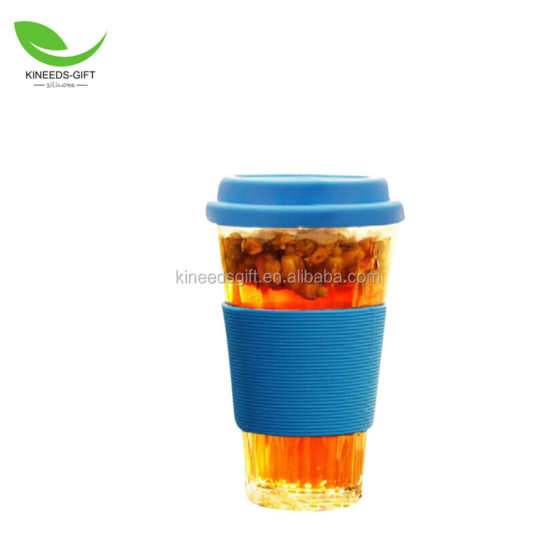 16 Oz Heat Resistant Coffee Travel Cup Case Coffee Tea travel mug Silicone Lid & Sleeve set