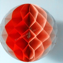 Honeycomb crepe paper christmas decorations