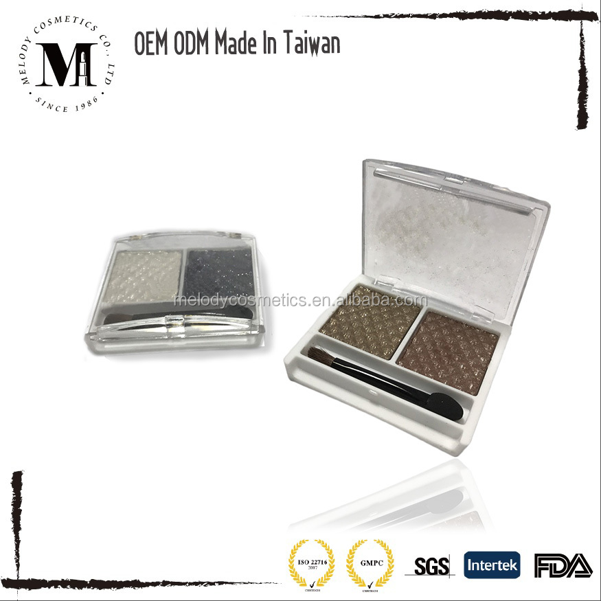 Cheap Private Label Duo Colors Eyeshadow, Bronzer, Private Label Eyeshaodw, Blusher, Makeup Palette, Matte, Shimmer Eyeshadow