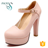 2017 Autumn Women Heels Pointed Toe Spring Autumn Style Print Fabric Dress Shoes Pumps High Heels 10cm Elegant Ladies Shoes