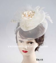 2011 fashion wedding fascinators feather hair accessories