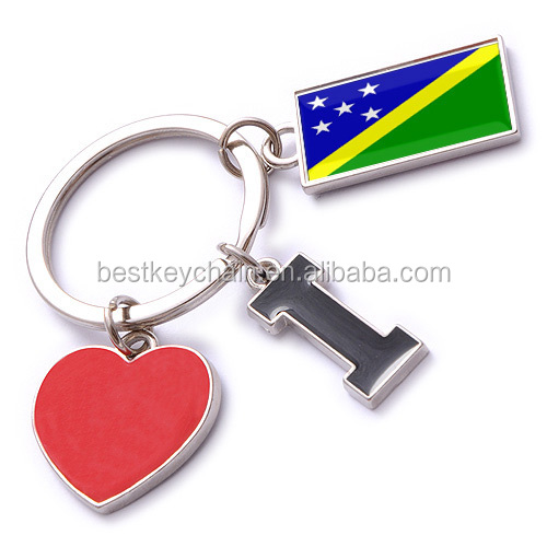 new custom metal souvenir Solomon Islands key ring
