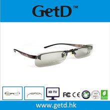 clip on for short sighted man 3D circular polarized glasses CP297G69