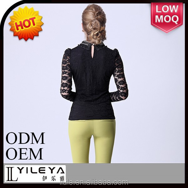 High quality high neck design of blouse