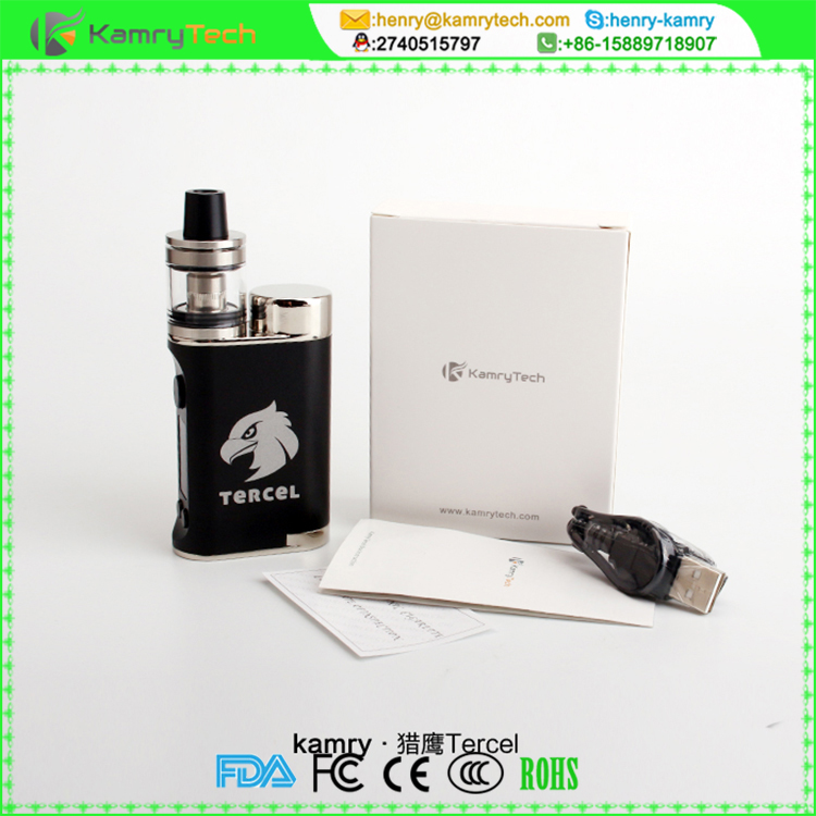 New arrival tercel highend 70w ego e cigarette, new mod kamry tercel with 2.0 ml atomizer