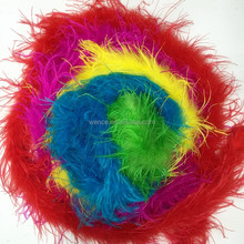 New style dyed ostrich feather boa for party
