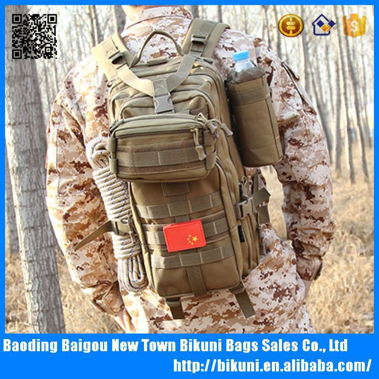 High quality camping durable canvas army tactical backpack bag military 3p tactical bag
