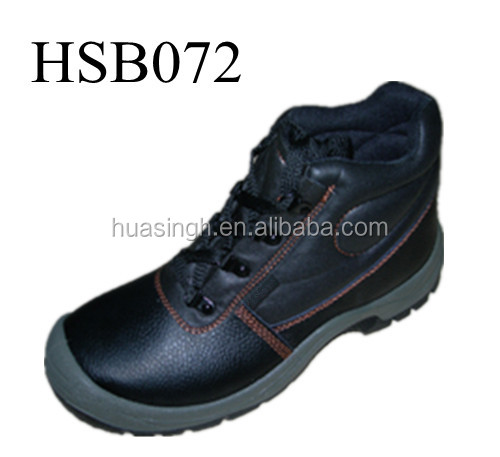 tip binding design steel toe cap industrial factory shoes for heavy duty work