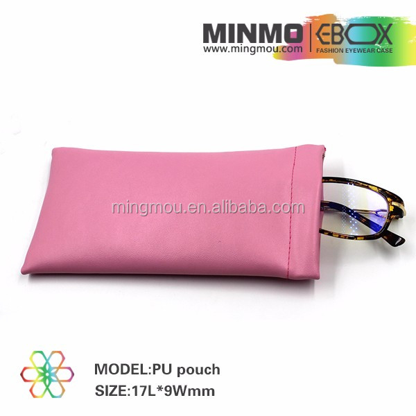 Wholesale sunglasses pouch, eyewear glasses pu pouch, leather pouch