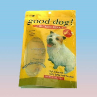 chicken jerky 3.5oz small dog food plastic bag with zipper