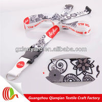New designs sublimation printed friendship lanyard lobster clasp