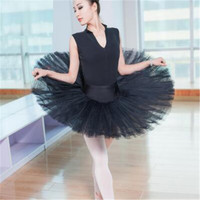 2018 European fashion women ladies adult sexy black swan professional ballet dance tutu skirt