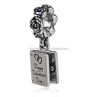 Love Notebook Dangle Charms Authentic Sterling Silver for Valentine's Day