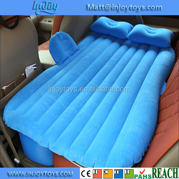 Wholesale Flocking Inflatable Car Mattress For Back Seat Cover Air Bed Universal Car